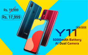 Vivo Y11 Both Variants Get Rs 2,000 Price Cut in Pakistan; Now Available at Attractive Discounted Prices