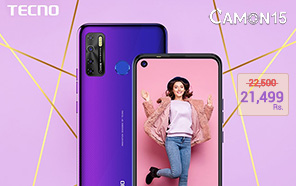 Tecno Camon 15 Gets a Price Cut in Pakistan, Now Available at just Rs 21,499