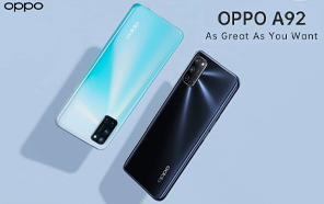 Oppo A92 Spotted on Indonesian Online Store Revealing Complete Specs, Price and Official Renders