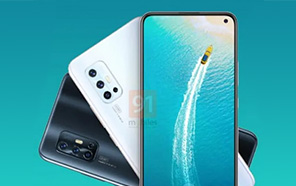 Another Vivo V17 Spotted with a different design, L-shaped Camera and a Punch-hole Display