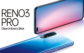 Oppo Reno3 Pro non-5G Variant Goes Official with an Extra Selfie Camera; Six Cameras in Total