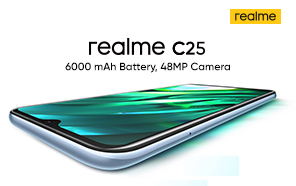 Realme C25 is Coming to Pakistan Soon; Massive 6000 mAh Battery and Budget Gaming Chip