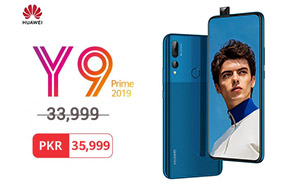 Huawei Y9 Prime 2019 is PKR 35,999 from now on