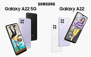 Samsung Galaxy A22 and Galaxy A22 5G Officially Unveiled; Meet the Cheapest 5G Galaxy Yet