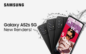 Samsung Galaxy A52s 5G Featured in Leaked Press Images; New Mint Paint Job and Faster Chip