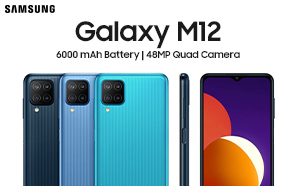 Samsung Galaxy M12 Announced with a 6000 mAh Battery and a 48MP Quad Camera