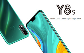 Huawei Y8s Goes Official with Dual Selfie Cameras, 48MP Rear Shooter and Google Mobile Services