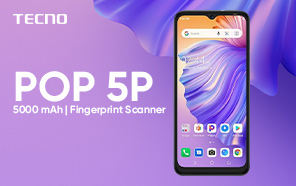 Tecno POP 5P Makes its Global Debut with a 5000 mAh Battery and Entry-level Specs