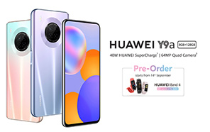 Huawei Y9a Officially Announced in Pakistan, Pre-orders Start on September 14 with Free Gifts Worth Rs 8,000