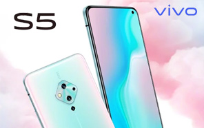 Vivo S5 leaks in full glory, First Chinese Smartphone to Offer an AMOLED display with a punch-hole