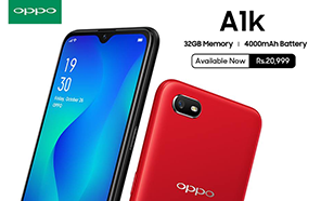 Oppo A1k launched in Pakistan with 4000mAh battery, Large display and an Amazing price Tag