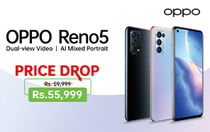Oppo Reno5 Price in Pakistan Cut; Save Up to Rs. 4000 on this Mid-range Device