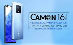Tecno Camon 16 Premier is Coming to Pakistan on October 9; Flagship-grade Camera on a Budget?
