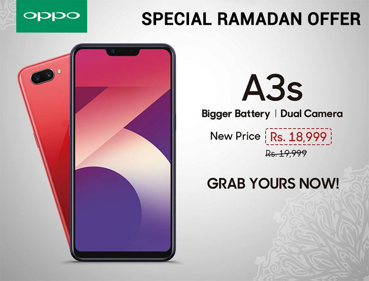 OPPO A3s: Exclusive Ramadan Offer, now Available at a special price
