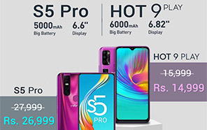 Infinix Hot 9 Play and S5 Pro Price in Pakistan Slashed; Now Available for a Rs. 1000 Discount