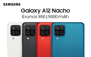 Budget-friendly Samsung Galaxy A12 Nacho Makes its Debut with Exynos 850 Chipset