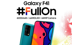 Samsung Galaxy F41 Makes its Debut; A Rebadged Galaxy M31 with 64MP Camera & 6,000mAh battery