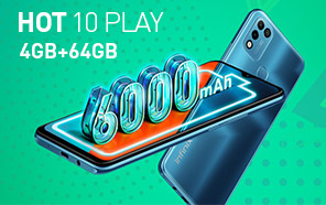 Infinix Hot 10 Play 4GB/64GB Due This Month for Pakistan; 6000 mAh Battery and Fingerprint Security