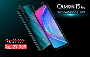 Tecno Camon 15 Pro is Now Retailing for a Rs. 2,000 Discount; Get an Edge-to-Edge Display on a Budget