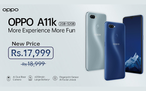 Oppo A11k is Now Available at a Discounted Rate in Pakistan, Save up to Rs. 1,000
