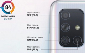 Samsung Galaxy A71 Camera Reviewed by DXOMARK, Bags a Mediocre Score