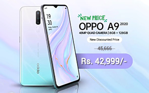 Oppo A9 2020 Gets a Price Cut in Pakistan, Now Retailing at 42,999 rupees.