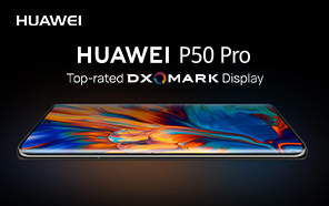 Huawei P50 Pro Also Tops DxOMark Display Rankings, Outperforming Samsung Galaxy S21 Ultra