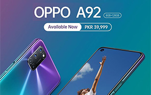 Oppo A92 Launched in Pakistan; Features 8GB of RAM, 5,000mAh Battery and a 48MP Quad-Camera