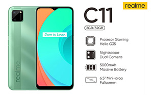 Realme C11 Launch in Pakistan Imminent; Listed on Online retailer's website with Rs. 16,999 Price Tag