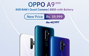 Oppo A9 2020 price slashed again in Pakistan, now retails at 39,999 Rupees instead of 42,999/-