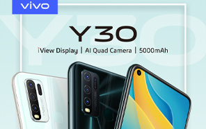 Vivo Y30 Goes Official in Pakistan; Quad Camera and a 5,000 mAh Battery On a Budget