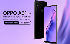 Oppo A31 3GB Variant Arrives in Pakistan, Water-Drop Display and an AI Triple Camera
