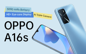 OPPO A16s Goes Official With an HD+ Display, 5000 mAh Battery and Triple Camera