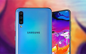 Samsung Galaxy A70e Leaked Renders Reveal an Infinity U display, Thick Bezels and a Rear Mounted Fingerprint Scanner