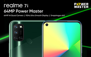 Realme 7i Unveiled; Features a Fluid 90Hz Display, 64MP Quad-camera and Snapdragon 662 SoC