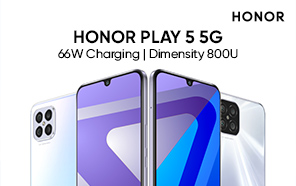 Honor Play 5 5G Debuts with a Sleek and Slim Design, Blazing Fast Charging, and OLED Display