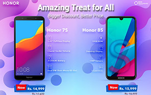 Honor 8s and 7s prices slashed by 3,000, now available at 15,999 & 14,999 respectively