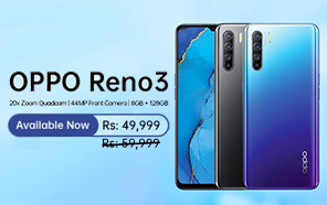 Oppo Reno 3 Gets a Price Cut in Pakistan, now Available for an Amazing Rs. 10,000 Discount
