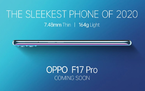 Oppo F17 Pro Teaser Released, Coming Soon; Meet the Sleekest Phone of 2020