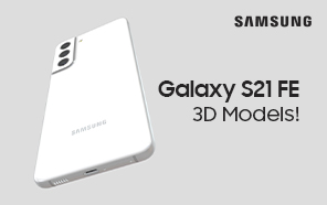 Four Samsung Galaxy S21 FE Colors Featured in High-Quality 3D Product Models
