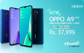 Oppo A9 2020 Smartphone Gets A Price Cut in Pakistan, Now Starts At Rs 37,999
