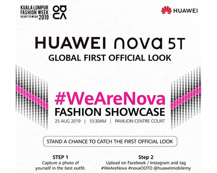 Huawei Nova 5t Is All Set To Be Unveiled Globally On 25th Of