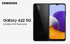 Samsung Galaxy A22 5G Leaked Again in New Renders; To Be Unveiled Soon With Dimensity 700