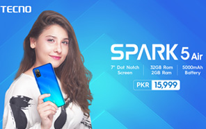 Tecno Spark 5 Air Now Available in Pakistan, the Cheapest 7-inch Screen Smartphone