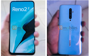 OPPO Reno 2Z live photos leaked revealing quad rear cameras and notch-less display