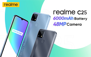 Realme C25 Debuts with MediaTek Helio G70, 6000 mAh Battery, and Fast Charging