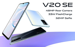 Vivo V20 SE Goes Official With an AMOLED Display, a 32MP Selfie Camera, and 33W Fast Charging