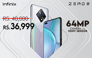 Infinix Zero 8 Price in Pakistan Cut by Rs 3,000; Now Available at a New Price of Rs 36,999/-