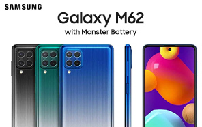 Samsung Galaxy M62 is Launching in Another Asian Market; 7000 mAh Battery Beast