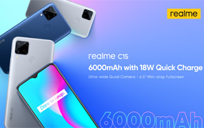 Realme C15 Released in Indonesia with a Massive 6,000 mAh Battery; Next Stop Pakistan